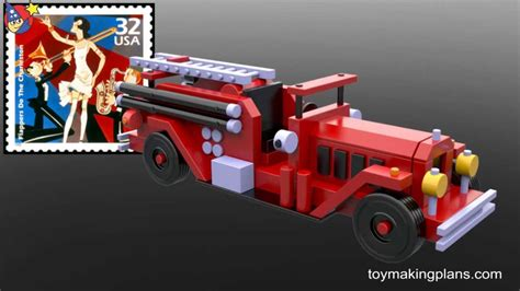 wood toy plans  fire engine number  youtube