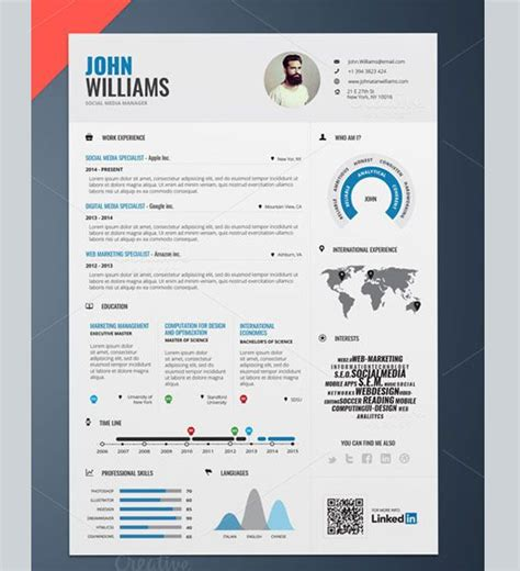 amazing resume template 17 best images about creative designs on tim