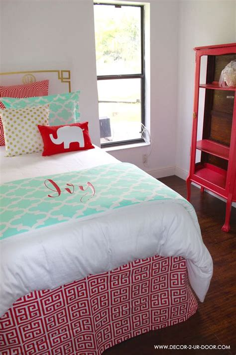 mint and gold bedding twin bed scarf and window panels on pinterest
