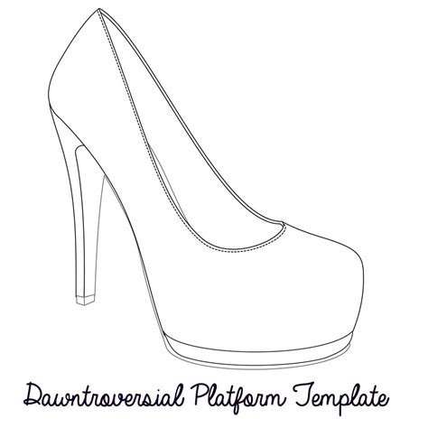 high heel template for cards printable high heel stencil best photos of high heel