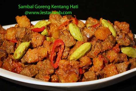 cara membuat sambal kentang goreng hati kumpulan resep asli indonesia sambal goreng kentang hati