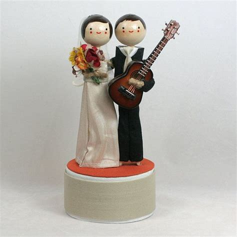pin custom handmade wedding cake toppers drum drummer topper guitar cake on