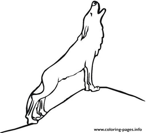 simple howling wolf coloring pages printable