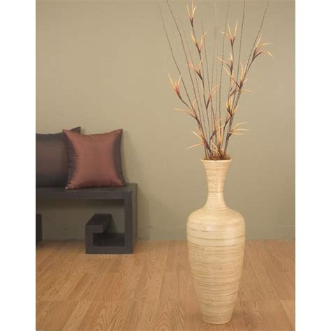 Bamboo Floor Vases by Bamboo 25 Inch Floral Optional Floor Vase
