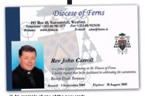 minister license id card template id cards for priests independent ie