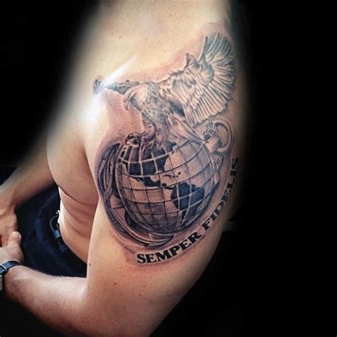 eagle globe and anchor tattoo 90 marine tattoos for semper fi ink design ideas