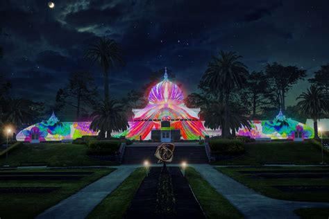 conservatory of conservatory of flowers will be illuminated psychedelic