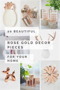 Rose Gold Home Decor by 20 Beautiful Rose Gold Decor Pieces For Your Home