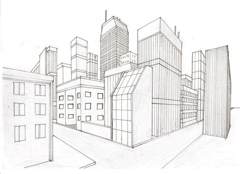 two point perspective city by whiteknightx5 on deviantart