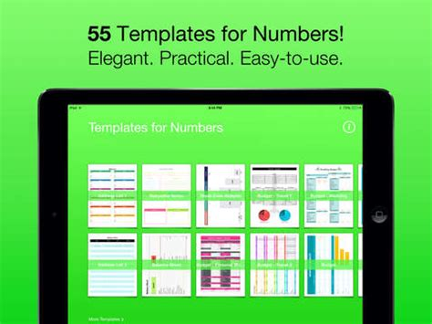 templates for numbers for ipad iphone ipod touch