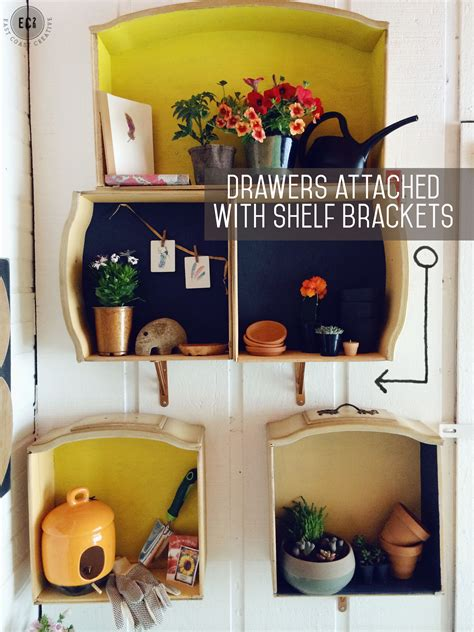 Bookshelf Bench How To Make Wall Shelves Out Of Old Dresser Drawers East