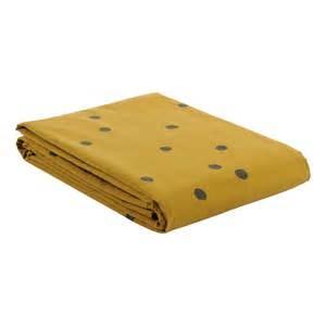 Bien Housse De Couette Moutarde #1: housse-de-couette-odette-a-pois-gris-jaune-moutarde.jpg