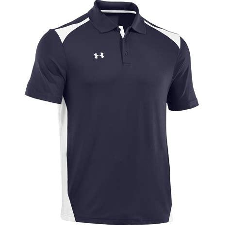 armour mens team colorblock golf polo shirts