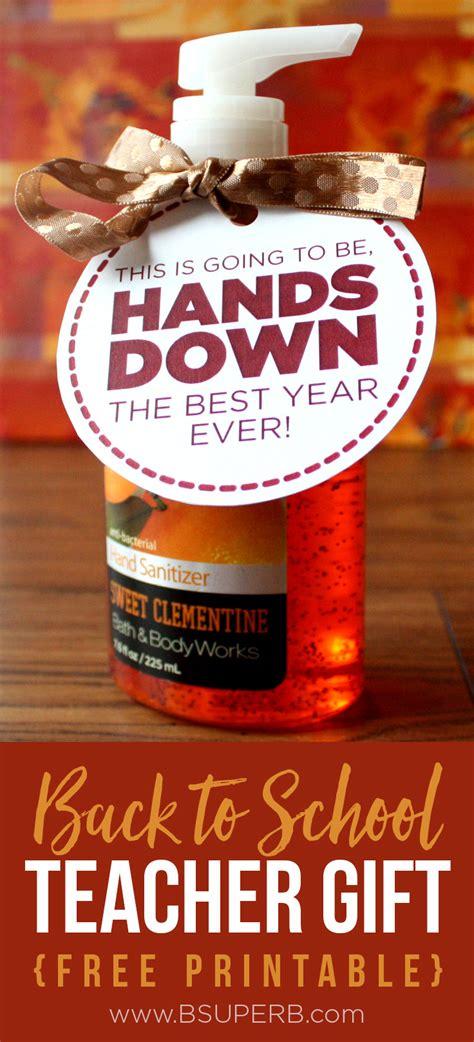 hand sanitizer teacher gift  superb