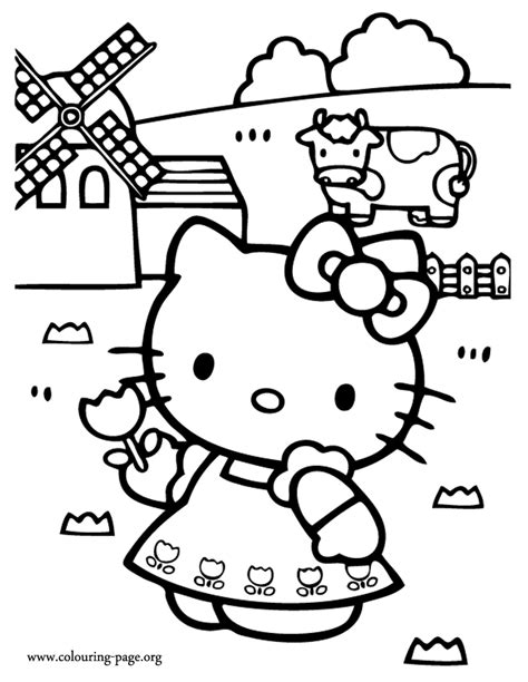 free coloring pages of hello kitty mermaid