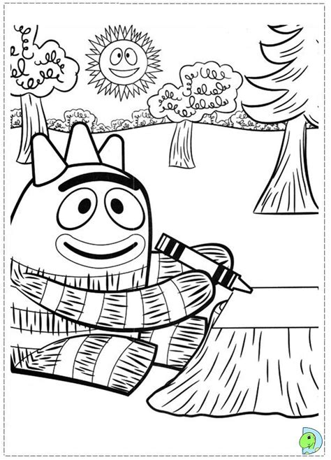 coloring pages yo free coloring pages of yo gabba gabba brobee