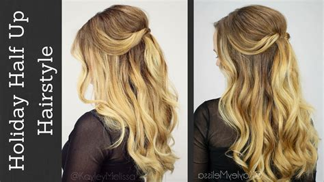 how to simple up do wedding 2013 pinterest holiday half updo with tousled waves youtube