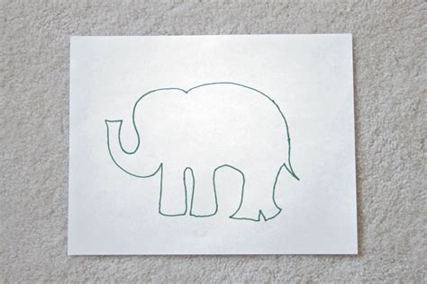 String Stencils - 9 best images of printable elephant stencil wall baby