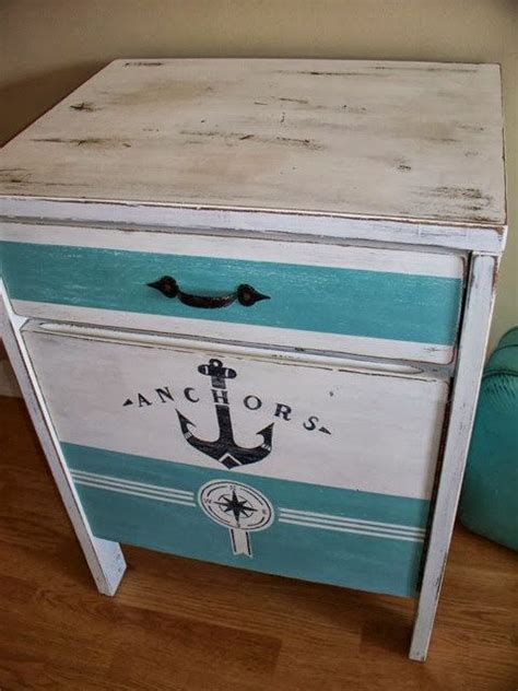 nautical themed end tables nautical nightstand side table nautical nautical table