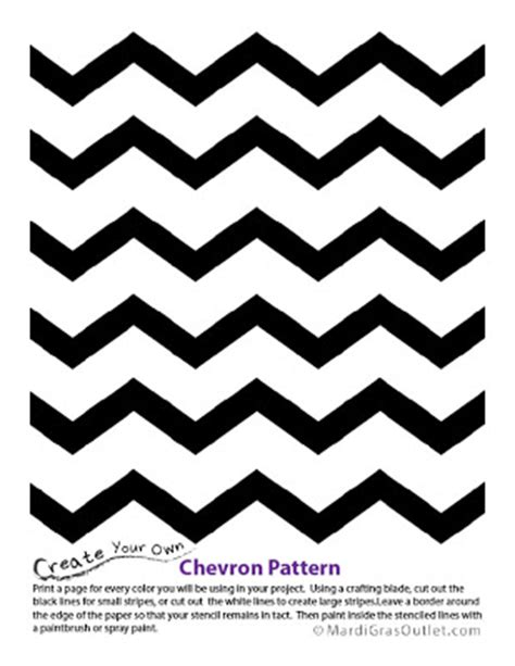 chevron pattern wall stencil party ideas by mardi gras outlet chevron pattern stencil