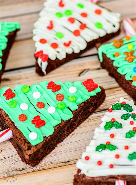 christmas tree brownies baking up holiday fun momdot
