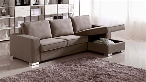 Brown Chloe Sleeper Sectional Sofa Zuri Furniture