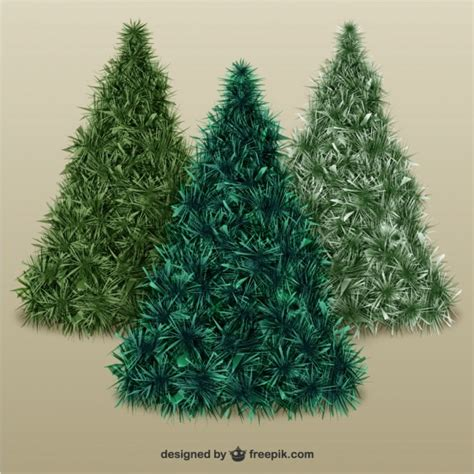 christmas trees with texture vector free download