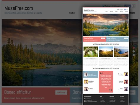 muse themes gallery download adobe muse business template by musefree com