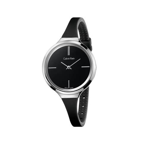 watches ck lively steel colored rubber
