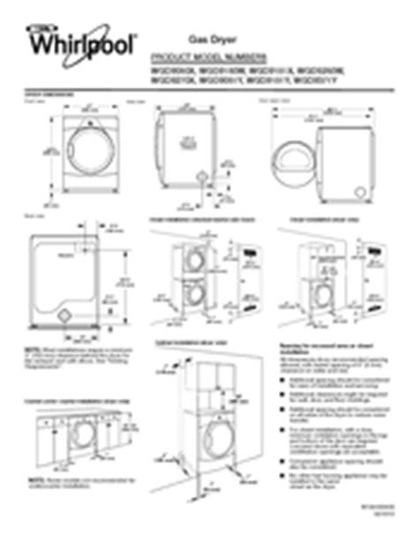dimensions of whirlpool duet washer and dryer types of stack whirlpool duet steam wgd9270x manuals