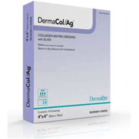 Daracol Collagen dermacol ag collagen matrix dressing with silver at healthykin