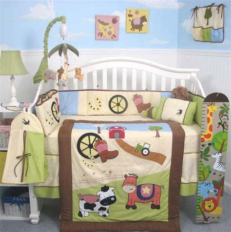 Farm Crib Bedding Set Soho Cowboy Range Baby Crib Nursery Bedding Set 13 Pcs Included Bag Ebay