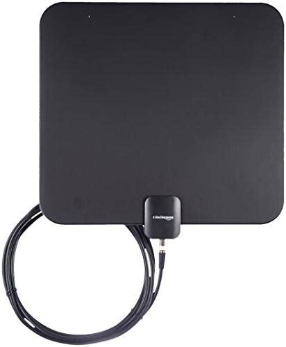 amazonbasics indoor flat tv antenna  mile range