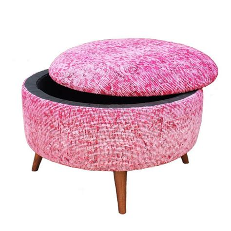 pink ottoman storage custom storage ottoman chair upholstery furniture large