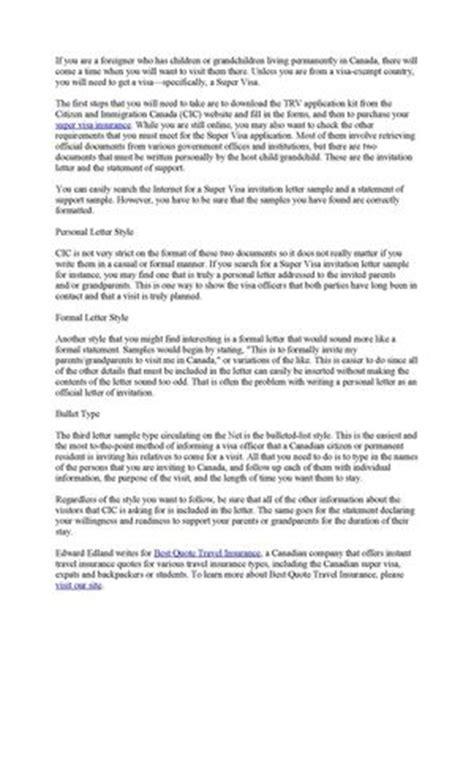 Canadian Embassy Letter Of Invitation Sle Calam 233 O Choosing A Proper Visa Invitation Letter Sle