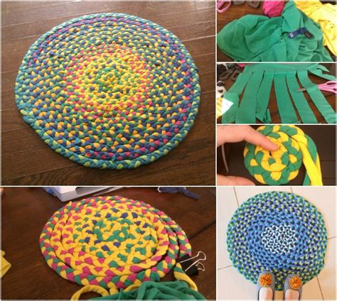 rug out of t shirts creative use for t shirts braid them into a beautifully bright rug diy crafts