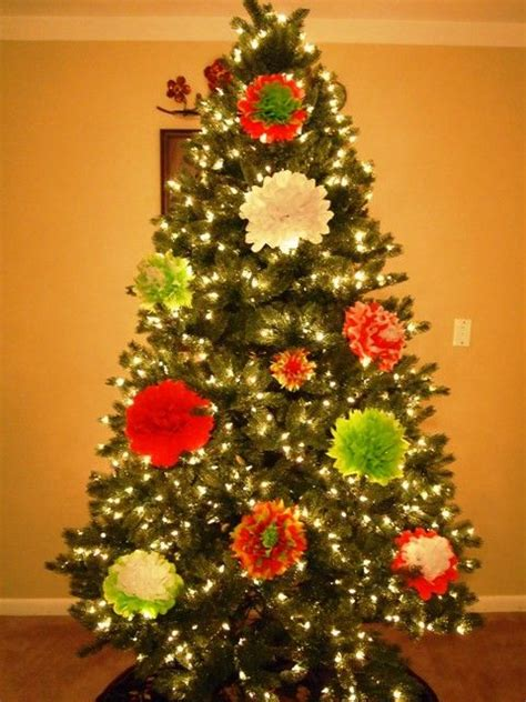 tissue paper christmas decorations how to make tissue paper flower ornaments for your tree flower ornaments tissue