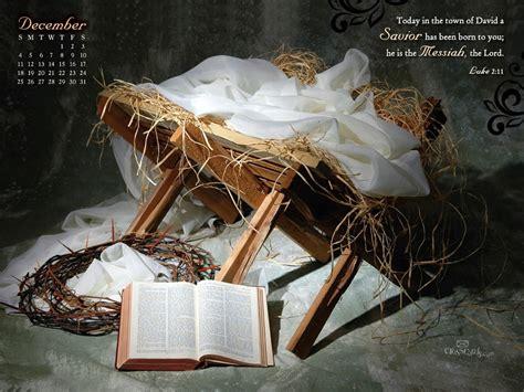 dec  savior born desktop calendar  december