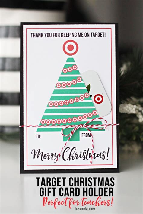 teacher gift for christmas target gift card holder