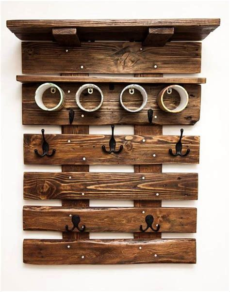 pallet coat rack wall organizer 99 pallets