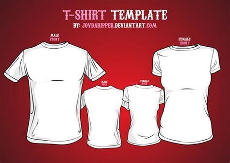 54 blank t shirt vector templates free to download