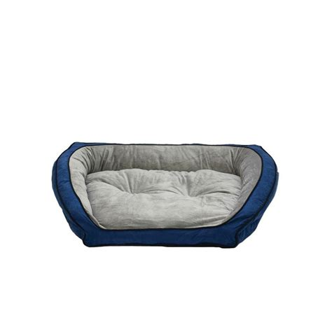 couch pet bed k h pet products bolster couch large blue gray pet bed