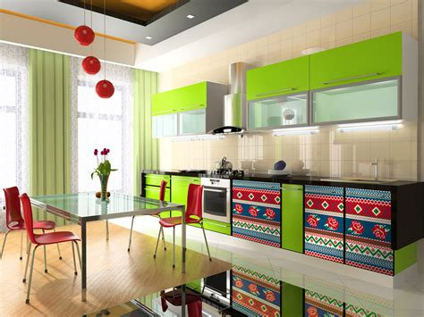 bright colors in kitchen design her beauty cheerful bright kitchen color ideas for sleek interior