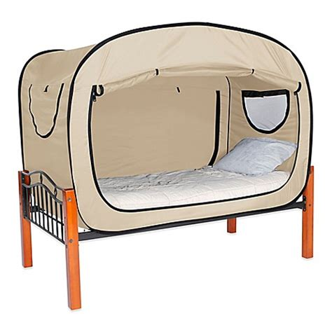 privacy pop bed bed tent full drawing of a room buy privacy pop size full bed tent in tan from bed bath
