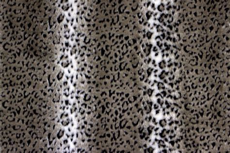 snow leopard upholstery fabric faux fur snow leopard grey black the fabric mill