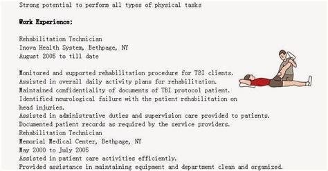Rehabilitation Resume by Resume Sles Rehabilitation Technician Resume Sle
