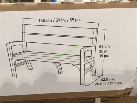 keter garden bench keter outdoor bench costcochaser