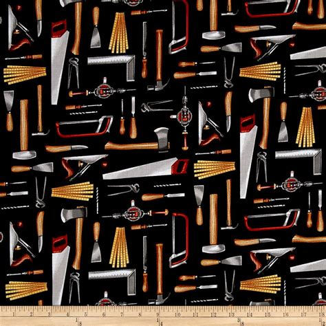 fabric pattern tools timeless treasures tool time tools black discount