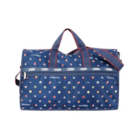 lesportsac large weekender bag in blue yacht club lyst