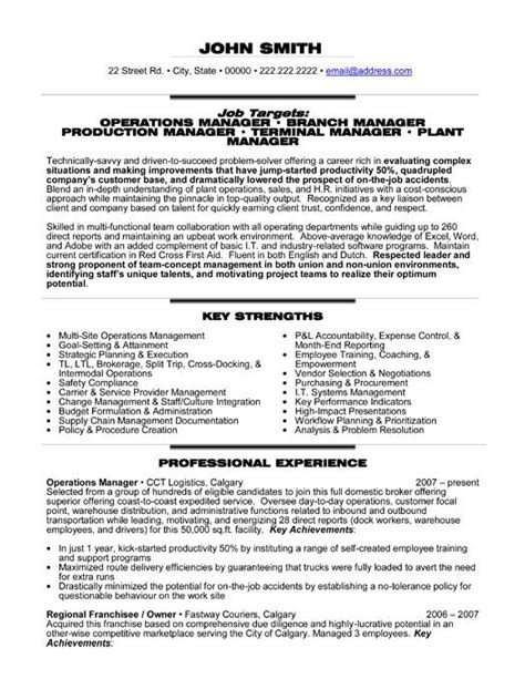 Management Resume Templates by Click Here To This Operations Manager Resume